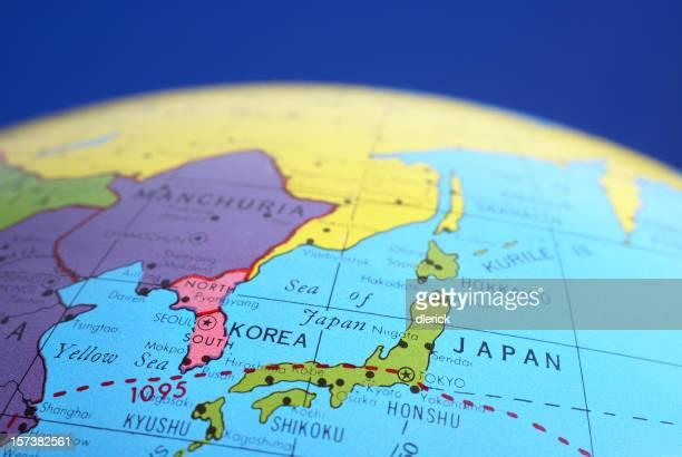 マップに表示され、世界中のアジア
