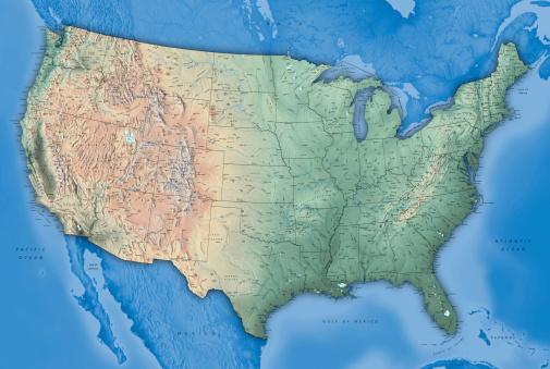 USA Map 184280752