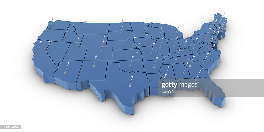 USA Map : Stock Photo