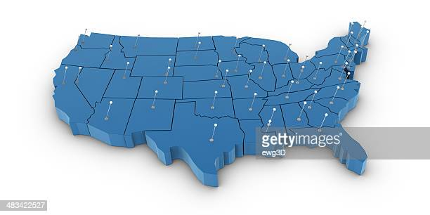 usa map - mid atlantic usa stock pictures, royalty-free photos & images