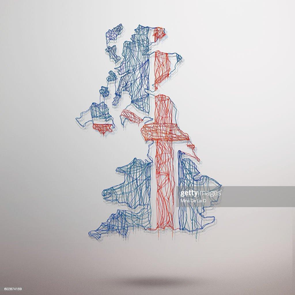 UK map : Stock Photo