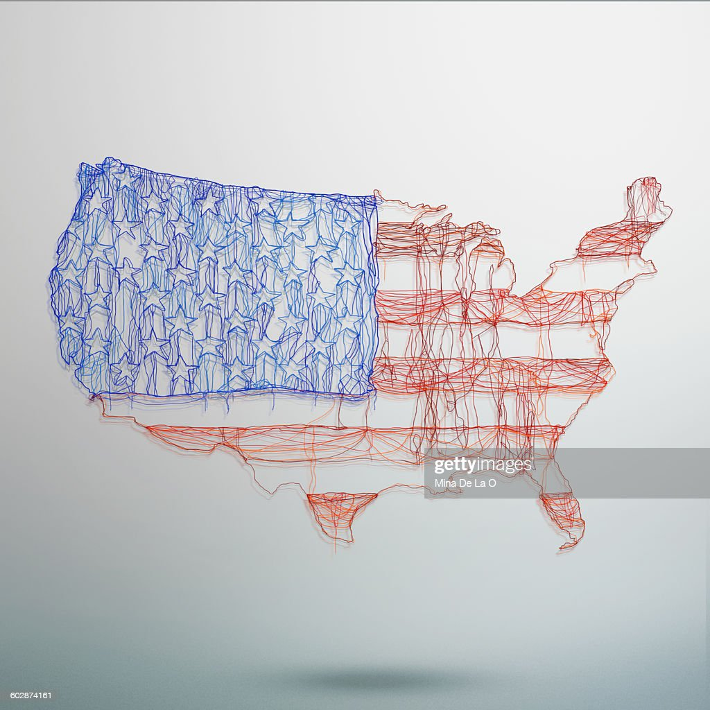 US map : Stock Photo