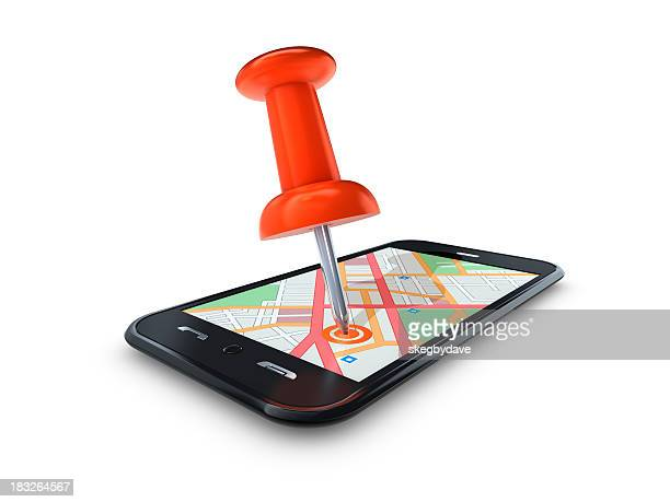 Map Pin in Mobile Cell