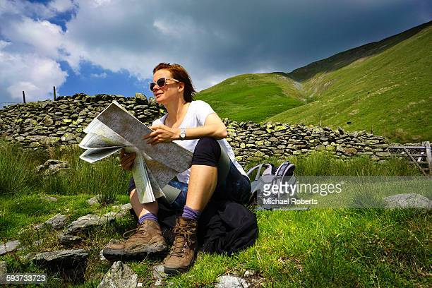 Map reading in the hills of the lake district