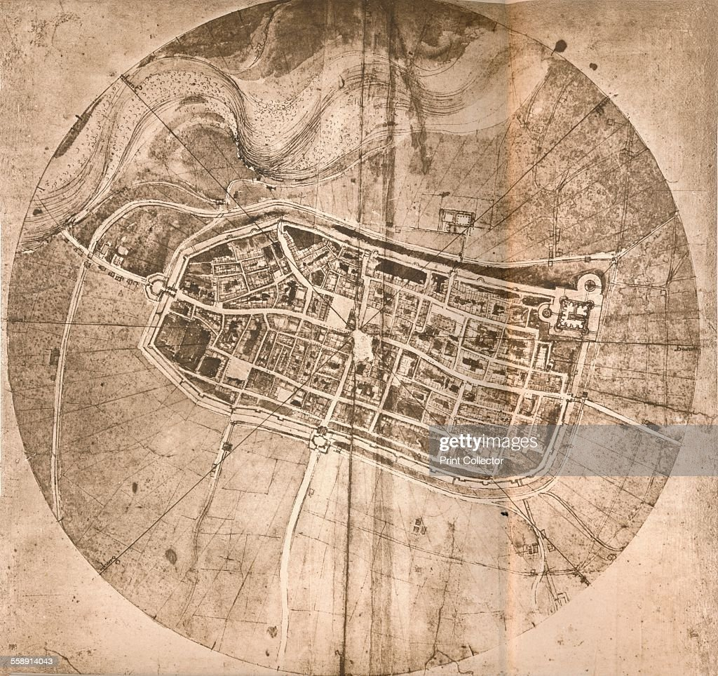A map representing the town of Imola Italy c1472c1519 1883