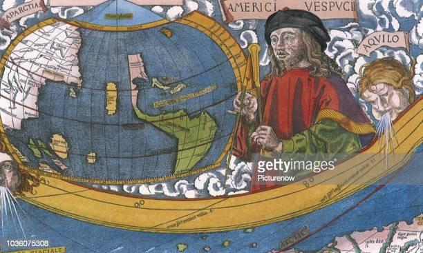 Map showing Amerigo Vespucci 1507