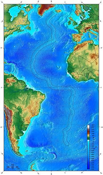 Map showing ocean floor with the mid atlantic ridge pictures map showing ocean floor with the mid atlantic ridge gumiabroncs Choice Image