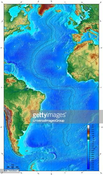 Map showing ocean floor with the mid atlantic ridge pictures map showing ocean floor with the mid atlantic ridge pictures getty images gumiabroncs Choice Image