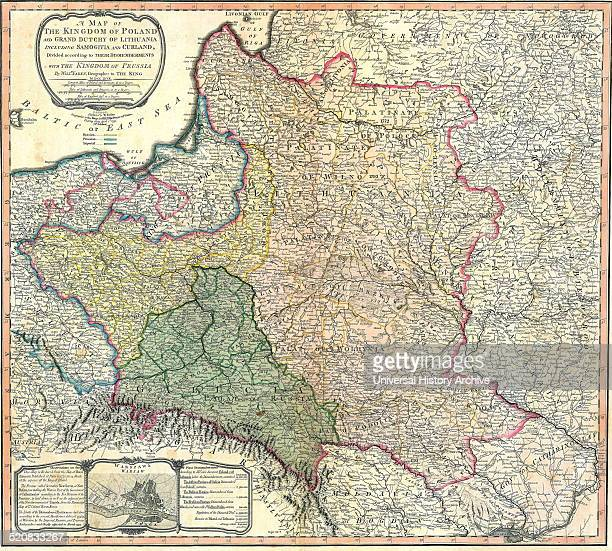 Map showing the partition of the Kingdom of Poland and the Grand Duchy of Lithuania 1799
