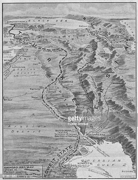 A map showing the route of the BerlinBaghdad Railway June 1913 The railway was funded and built by the German Empire with the cooperation of the...
