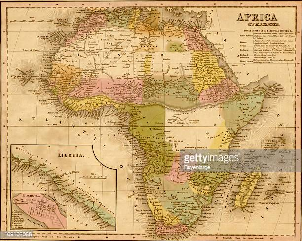A map shows Africa 1844