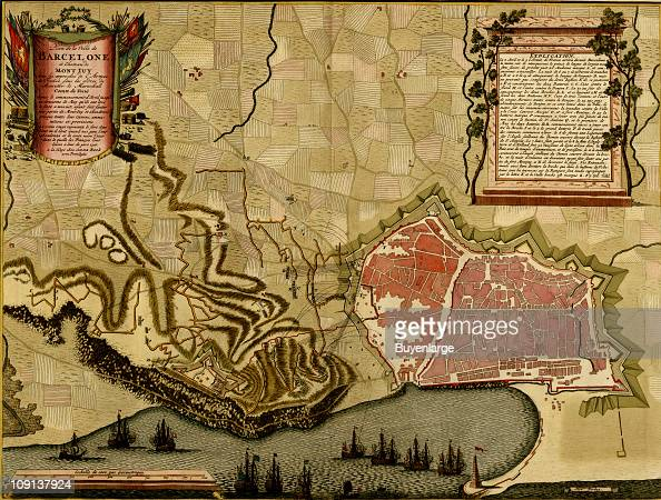 Map 24 Spain.A Map Shows Barcelona And The Surrounding Countryside Spain 1700