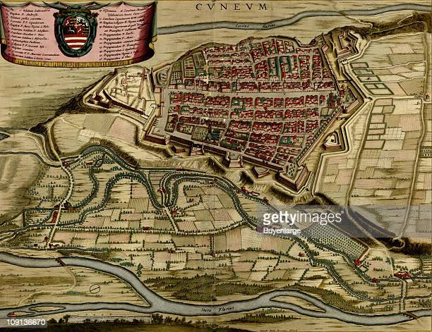 A map shows Cuneo Italy 1700