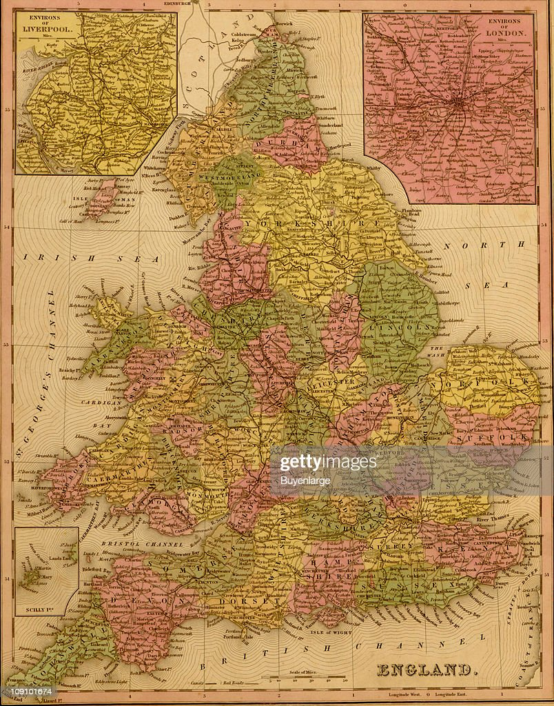 Show Map Of England.A Map Shows England 1855 News Photo Getty Images