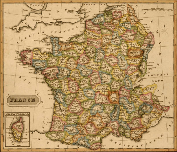 Map of france 1817 pictures getty images map of france 1817 gumiabroncs Images