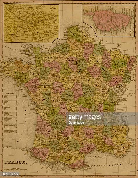 A map shows France 1844