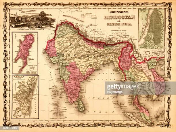 A map shows 'Hindostan or British India' 1862