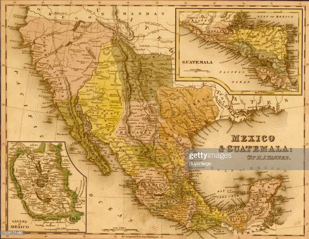 a map by henry schenck tanner shows mexico and guatamala 1844