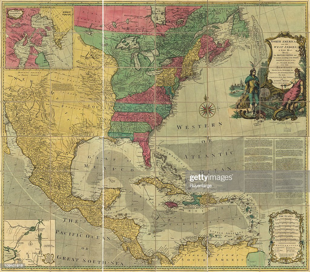 A Map Shows North America And The West Indies With Small Inset Maps