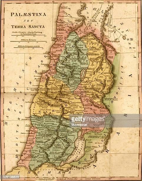Map shows Palestine.