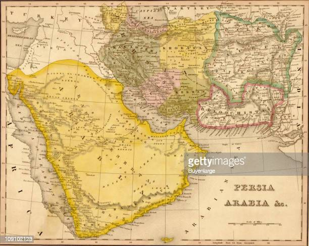 A map shows Persia and Arabia 1844