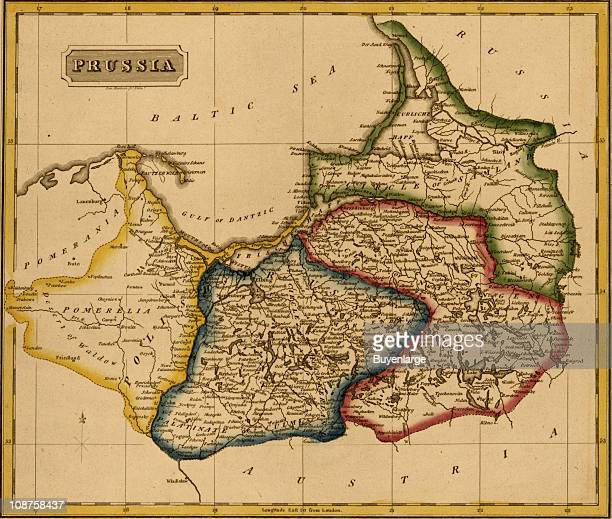 Map shows Prussia 1817