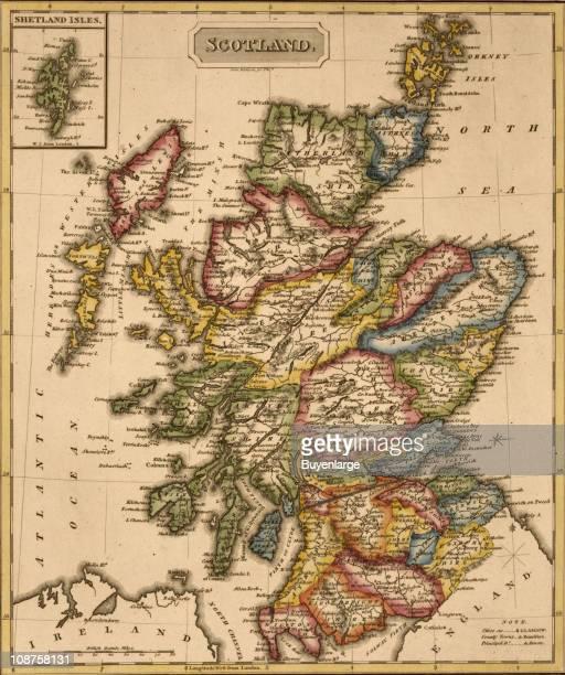 Map shows Scotland 1817