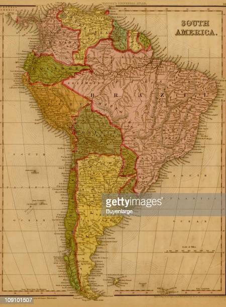 A map shows South America 1844