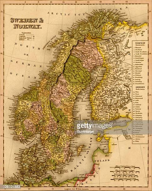 A map shows Sweden and Norway 1844
