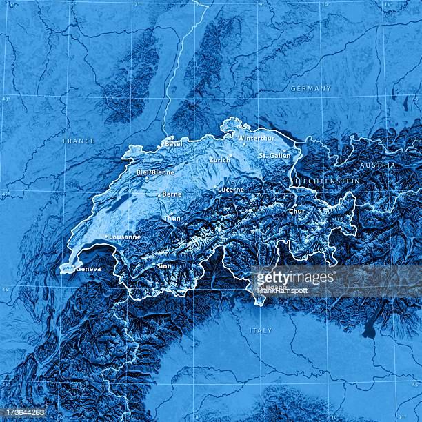 Karte der Schweiz (ENGLISCHE version