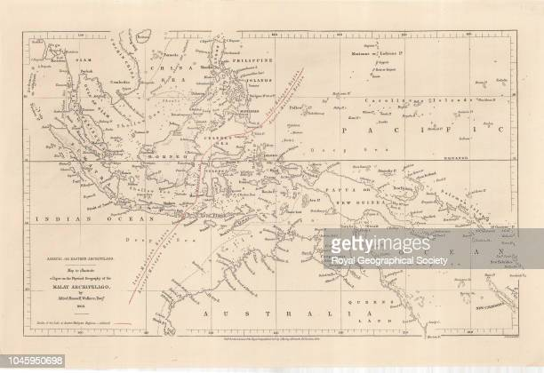 Map to illustrate a paper on the physical geography of the Malay Archipelago by Alfred Russell Wallace Esquire Scale [128 000] London Royal...