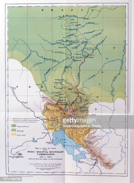 Map to show the work of the PeruBolivia Boundary Commission 1911 to 1913 Full title 'Map to show the work of the PeruBolivia Boundary Commission 1911...