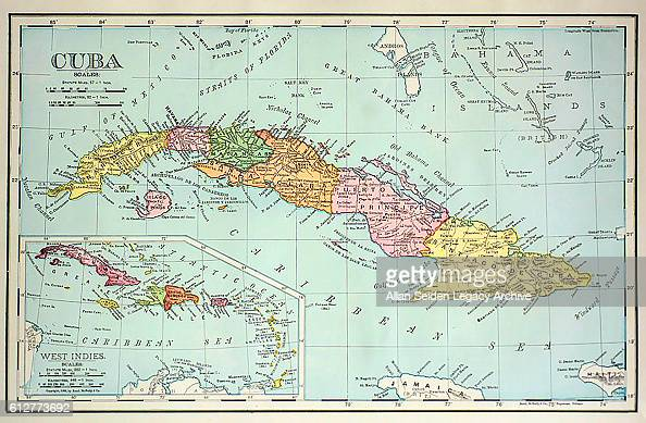 Map With Color Coded Provinces Cuba Circa 1900 News Photo Getty