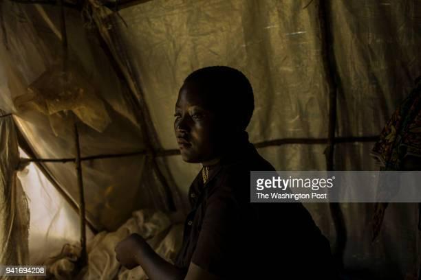 Mapenzi Dzanina at her family's tent in Kyangwali refugee resettlement camp in Uganda on March 23 2018 'We had heard that the Balendu were coming...