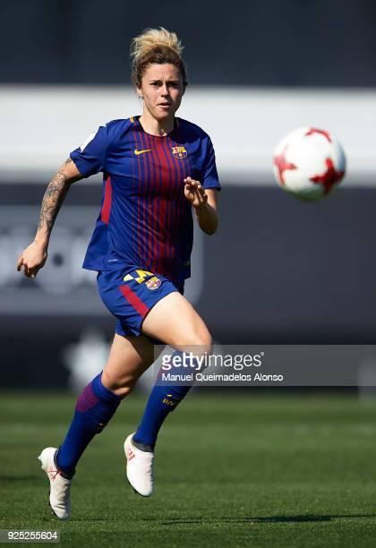 Mapi Leon of FC Barcelona runs with the ball during the Liga Femenina match between Valencia CF Women and FC Barcelona Women at Francisco Puchades...