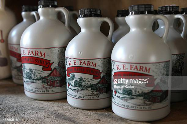 Maple syrup at KE Farm in Sturbridge Mass