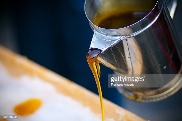 maple syrup on ice - syrup stock pictures, royalty-free photos & images