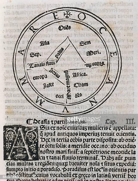 Mappa Mundi Etymologiae De summo bono by Isidore of Seville Peter Loslein edition Venice 1483