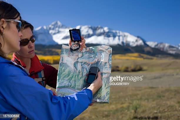 mapping with a gps - gps map stock photos and pictures
