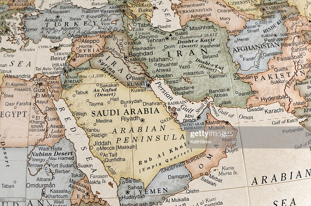 Maps of countries in Middle East : Stock Photo