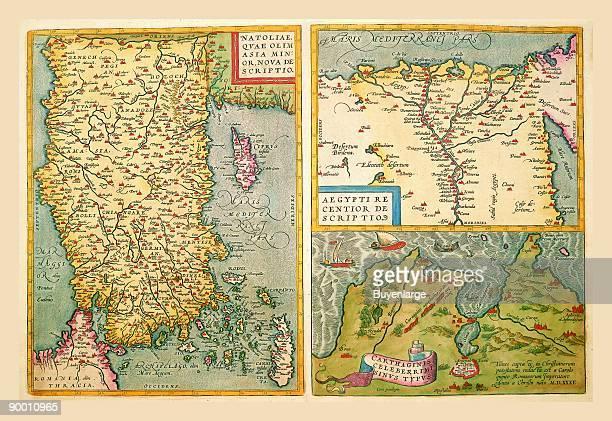 Maps of Turkey Egypt and Libya