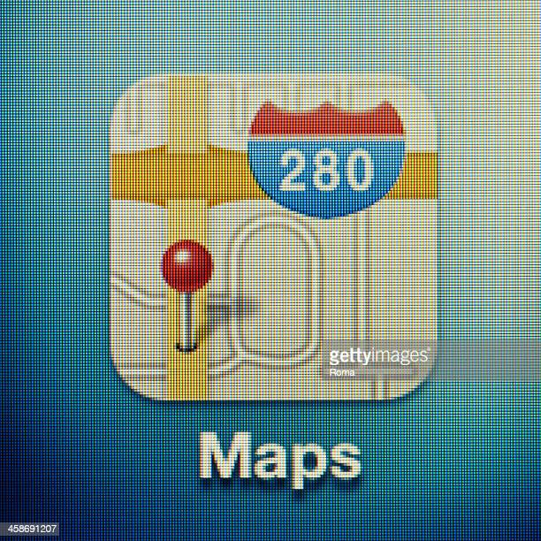 maps - google icon stock pictures, royalty-free photos & images
