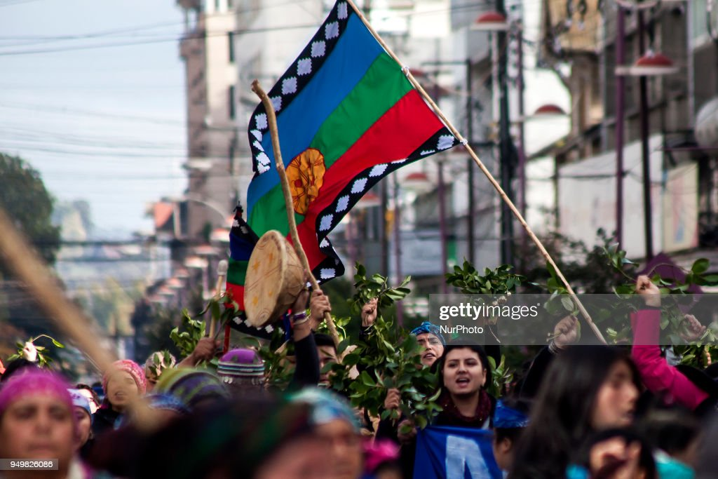Mapuche March In Support Of Celestino Cordova On Hunger Strike