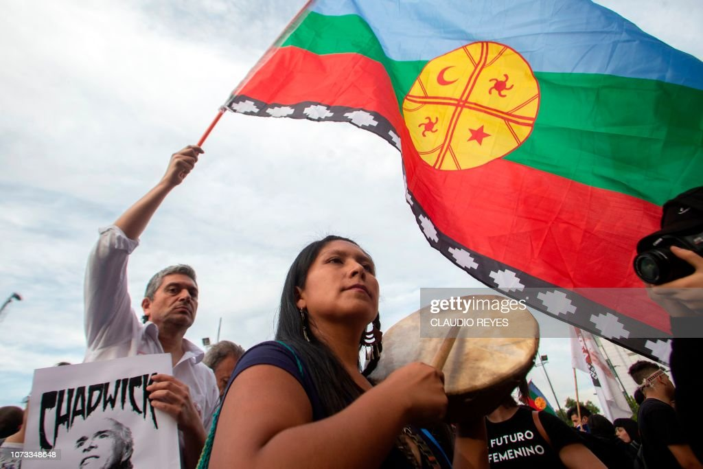 CHILE-INDIGENOUS-MAPUCHE-PROTEST : News Photo