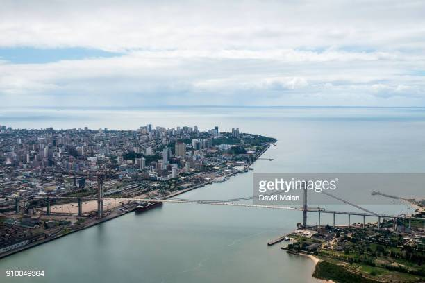 maputo, mozambique, from the air. - mozambique stock pictures, royalty-free photos & images