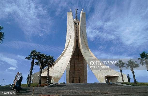 Maqam Echahid the Martyrs' Memorial commemorating the Algerian war for independence Algiers Algeria