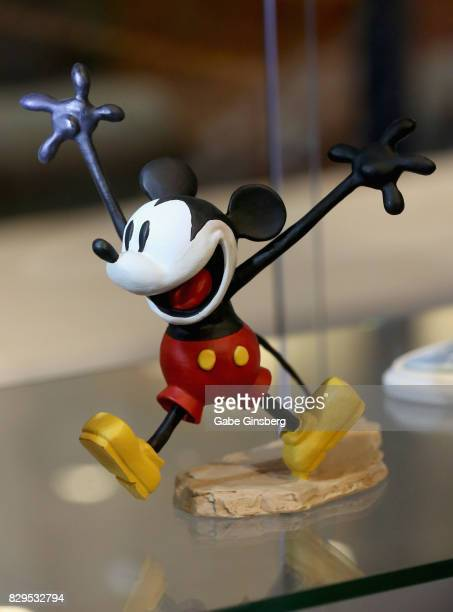 A maquette of the animated character Mickey Mouse is displayed during a preview event at the Magical Memories Fine Art Gallery inside The Forum Shops...
