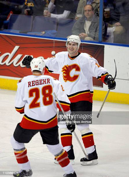 Mar 07 2007 St Louis MO USA Calgary Flames WAYNE PRIMEAU MARCUS NILSON against St Louis Blues at the Scottrade Center in St Louis Mo on March 6 2007...