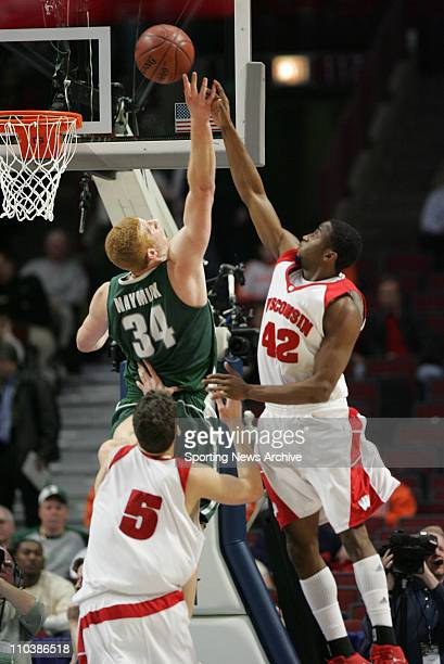 Mar 09 2007 Chicago IL USA Wisconsin ALANDO TUCKER against Michigan State DREW NAYMICK during the Big Ten Tournament at the United Center in Chicago...