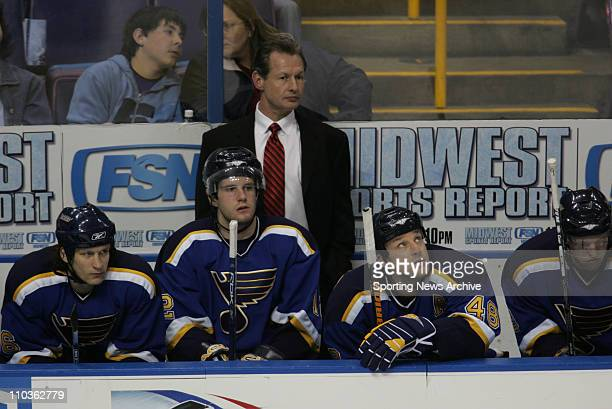 Mar 10, 2006; St. Louis, MO, USA; St. Louis Blues head coach Mike Kitchen during the Minnesota Wild against the St. Louis Blues at the Savvis Center...